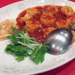 海鮮中華料理 呑 - 海老のチリソース2100円