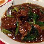海鮮中華料理 呑 - 牛バラ肉入りご飯900円