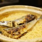 まにわ - 秋刀魚の土鍋ご飯(別料金)