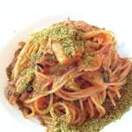 22102999 - 秋刀魚のトマトスパ香草パン粉