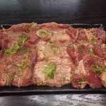 焼肉千里馬 - 牛タン三種盛り1200円
