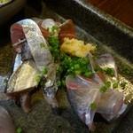 22104495 - 秋刀魚と鯵の刺身