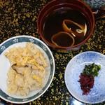 玉家 - 松茸ご飯、赤出汁