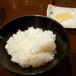 喜陽亭 - 白ご飯です。