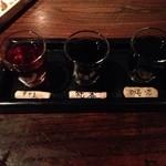 黒猫夜 - 利き酒(900円)