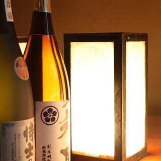 焼酎は各種銘柄、多数ラインナップしております。