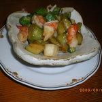 笑 - 海老と茄子の炒め物