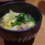 和味 大輔 - お豆腐のつくねと玉ねぎの玉子とじ