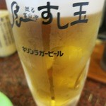 廻る富山湾 すし玉 - やっぱりお寿司にはビールですね。