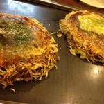 お好み焼き ちどり - 肉玉そばめし焼き(800円),Wチーズデラックス(1000円)