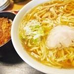 やっこ - ソースかつ丼+ラーメンセット