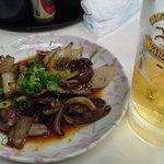 アナバ - 鶏きも焼(250円)。