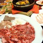 こだわり亭 - キムチ・サラダ・スープ・ビピンバ・デザートも◎焼肉食放2100円!!