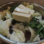 元祖もつ鍋 博多屋 - 【もつ鍋@900円→450円】 豆腐は別で250円