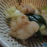 元祖もつ鍋 博多屋 - もつはプリプリです。