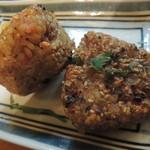元祖もつ鍋 博多屋 - 麺に続いて焼きおにぎり♪