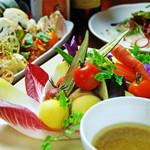 チェルシーデルンバ - 有機野菜のバーニャカウダをはじめ、健康・安全の料理でおもてなし致します。