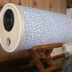 カフェ メデル - 手作りの筒型スピーカー