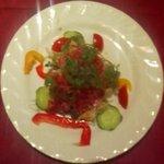 """2214045 - 西新宿""""Bistoro COLORIS""""ランチ前菜「サラミと野菜のサラダ」"""