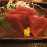 雑魚屋 - 焼魚(つぼ鯛)定食のお刺身