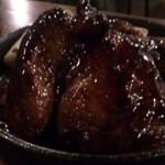 Bar松見坂 - 大間産天然本鮪 ほほ肉の黒七味焼き