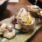 山暖 - 焼き牡蠣・鱧