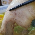麺屋 ささき - 三枚肉のチャーシューです。名古屋に多い薄目タイプです。