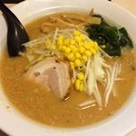 らーめんともや - 料理写真:味噌ラーメン 半チャーハン 2013年10月