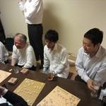 日本橋焼餃子 - 個室にて将棋例会