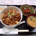 ちとせ弥 - 料理写真:牛もつ丼680円(2013.9月)