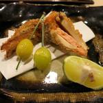 濤﨑 - 松茸と鮭のはさみ揚げ
