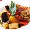 せもりな - 料理写真:厚切りベーコンと秋茄子のポモドーロパスタ