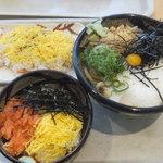 ぶっかけ亭本舗ふるいち - ☆ぶっとろうどん(大)+鮭トロ丼+ちらし寿司☆