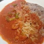 パークサイド タブレス - ランチ。十五穀米のトマトチーズカレー。