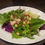 22150363 - グリーンリーフとお豆のサラダ