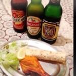 ケサリ - インドビールセット ¥750 インドビール・タンドリーチキン・パパド ビールは3種類から選べます!