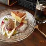 ビストロ ターボー - おぐらのアイス 洋梨のタルト