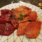 焼肉亭 - 料理写真:牛肉定食 980円