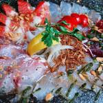 ■ 築地鮮魚!! 新鮮魚貝!!海の恵みのカルパッチョ