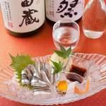 ラズリ銀座店 グリル ステーキ 産直有機野菜 ランチビュッフェ - 産地直送の鮮度抜群なお造りと国酒である日本酒との相性をお楽しみください