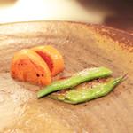 神戸牛ステーキ Ishida. - 季節の焼き野菜:にんじんとモロッコいんげん  '13 10月下旬