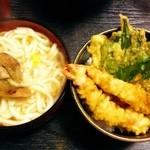 22159004 - 松茸うどんと小天丼¥1050