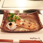 神戸牛ステーキ Ishida. - オードブル:スモークサーモンとアオリイカのマリネ  '13 10月下旬