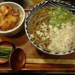22159818 - わたしが頂いた「かき揚げ丼定食」 700円。