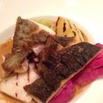 22160935 - 真鯛のポワレ、オマール海老のクリームソース