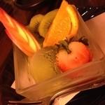 いもくりなんきん - 抹茶アイス&フルーツ