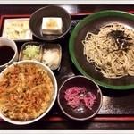 22166723 - 蕎麦定食                         もりそば ミニかきあげ丼 900円                         2013.10