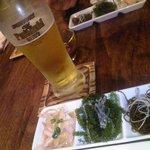 22167318 - 海ブドウ&琉球冷菜とプレモル♪
