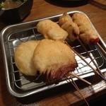 Kushikatsudengana - 131030 牛・鶏・ウインナー・玉葱・ナス
