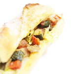 パリゴ - 料理写真:カスクルート プロヴァンサルはラタトゥイユがサンドされてる。  '13 10月下旬